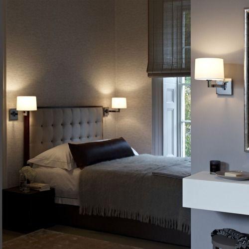 lampa ścienna w sypialni aranżacje
